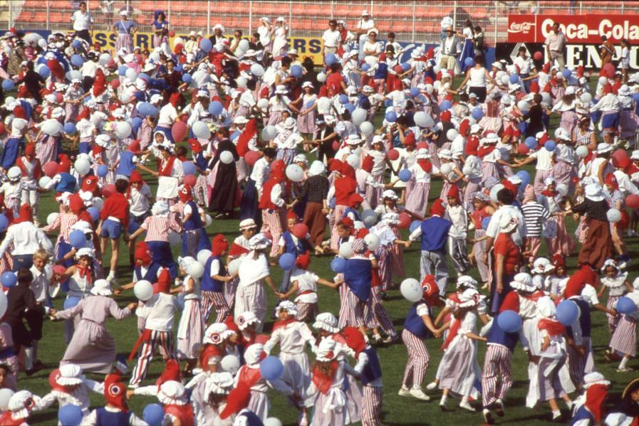 Fête des écoles publiques, Tours, 1989